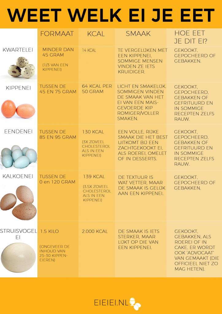 Infographic: weet welk ei je eet