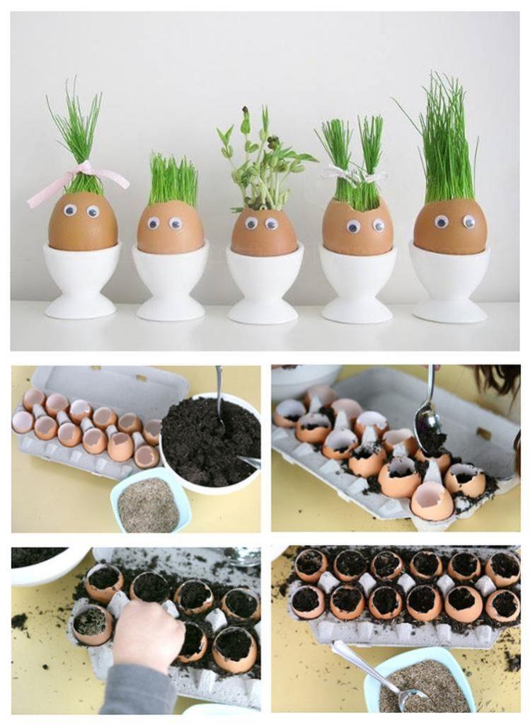 poppetjes van eierschalen