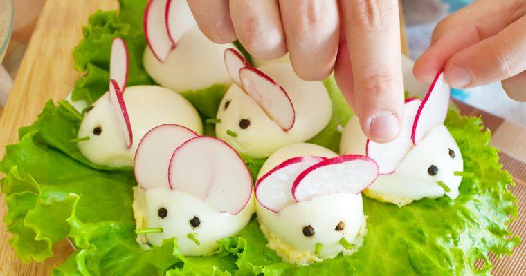 Muisjes van gevulde eieren