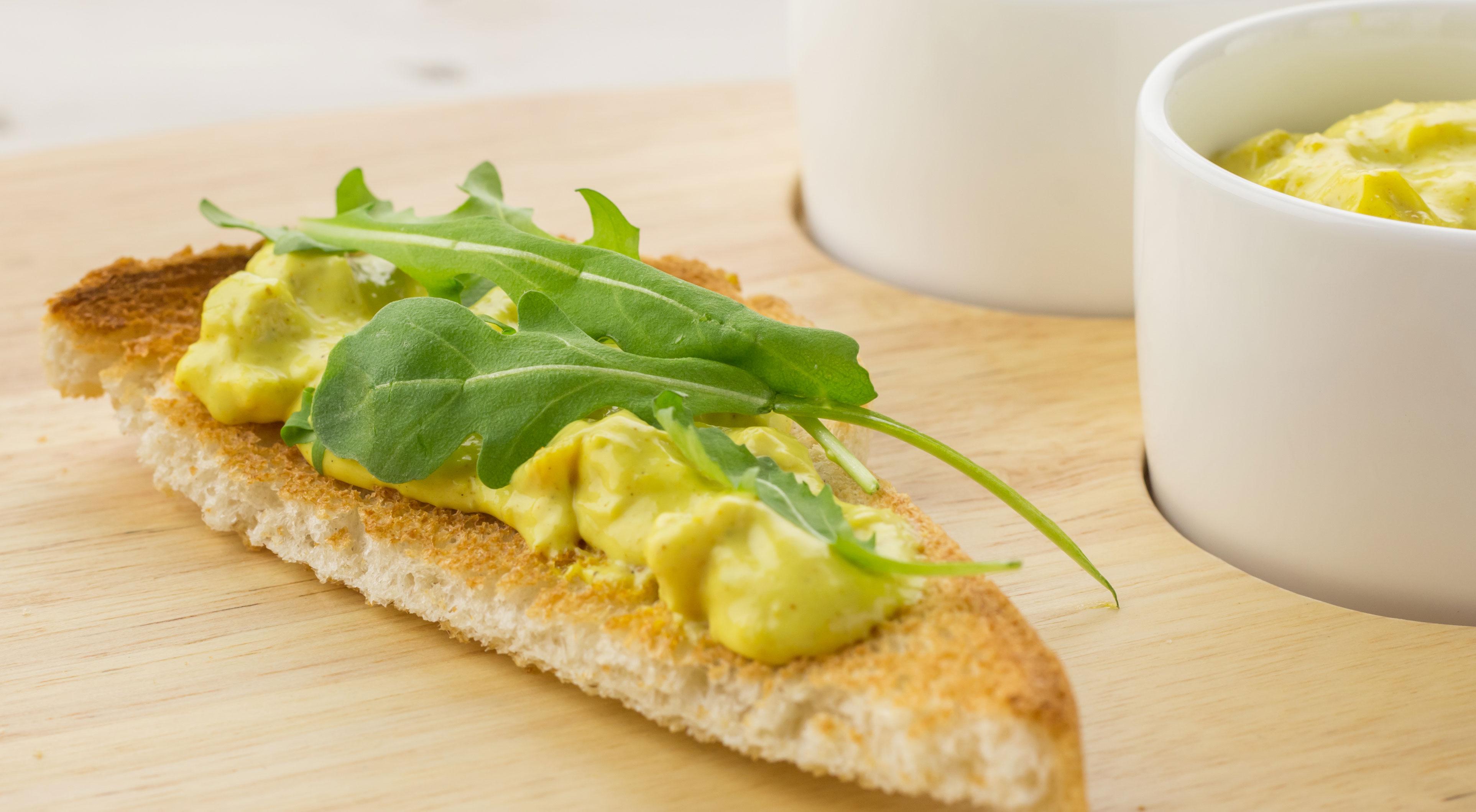 Slanke ei-kerriesalade (minder kcal. zonder dat je het proeft!)