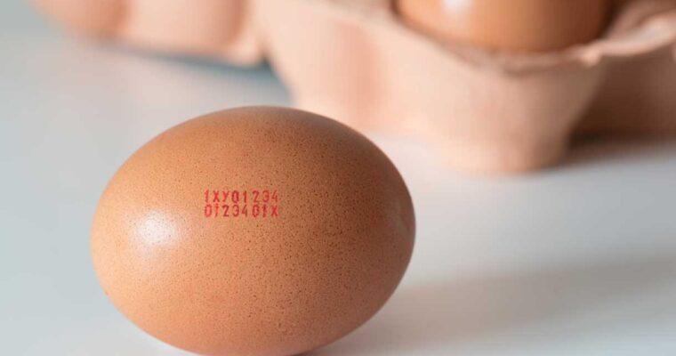Is de inkt op eieren schadelijk voor je gezondheid?