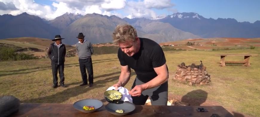 Gordon Ramsay's Alpaca roerei uit Peru