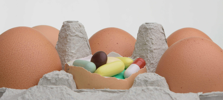Kan er antibiotica in mijn ei zitten?