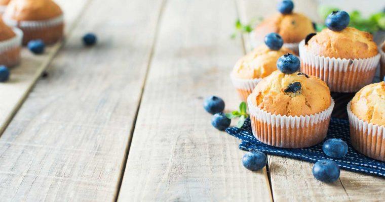 Blauwe bessen muffins (suikervrij)