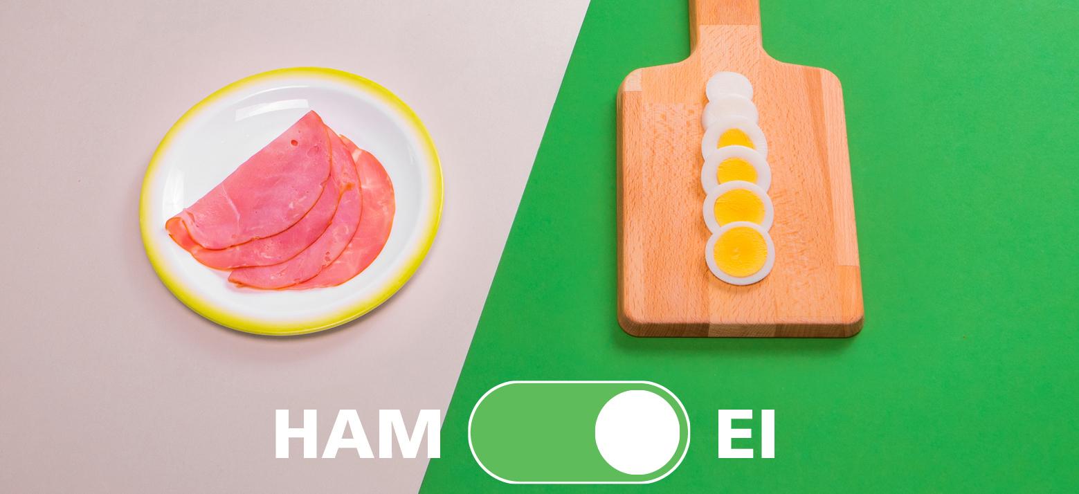 """Voedingscentrum adviseert Eetwissel: """"Ei in plaats van ham"""""""