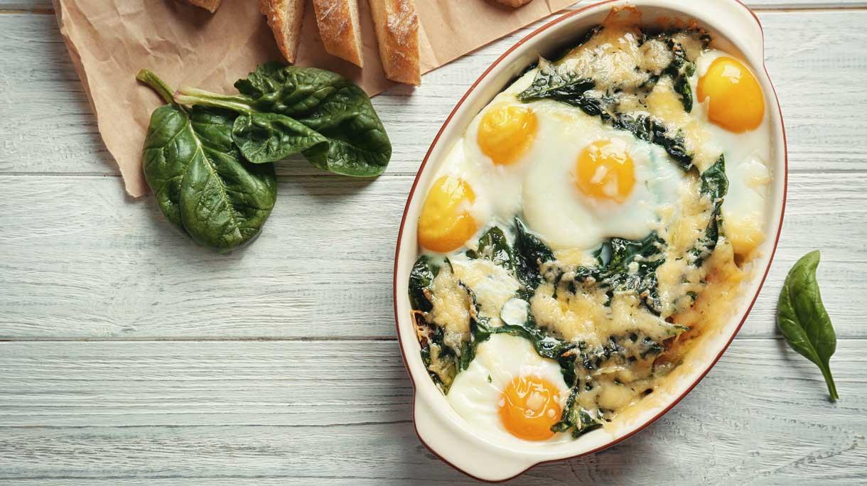 Florentijnse eieren (eggs a la Florentine)