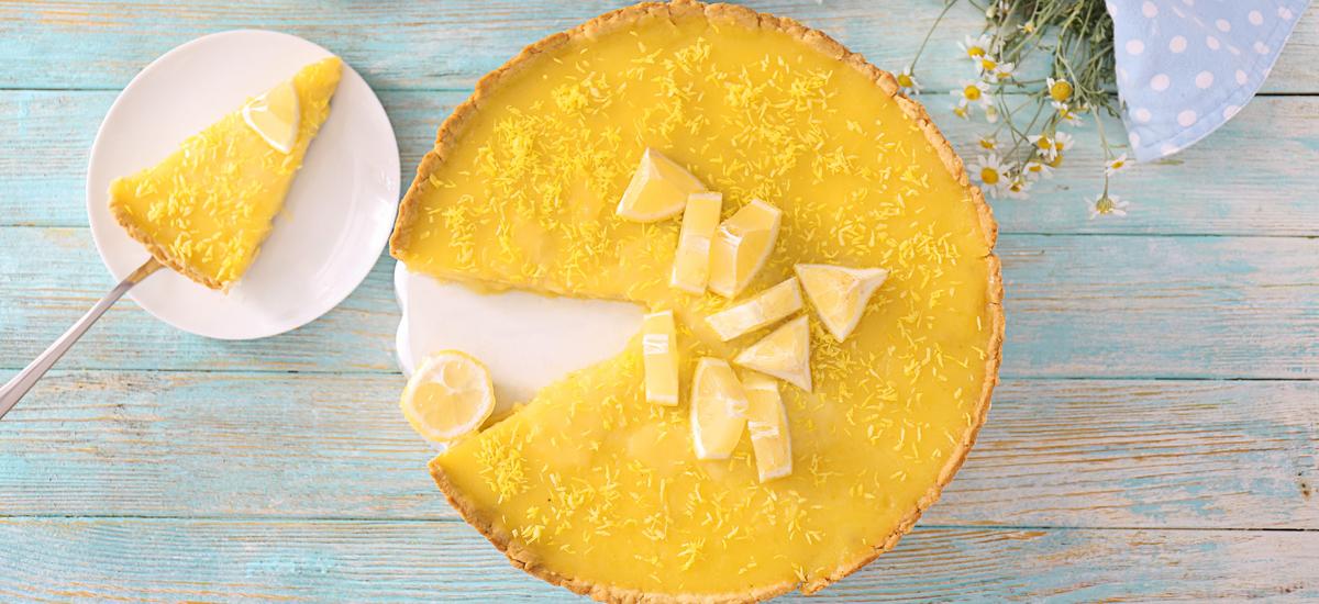 Frisse citroentaart: zomer op een gebaksbordje