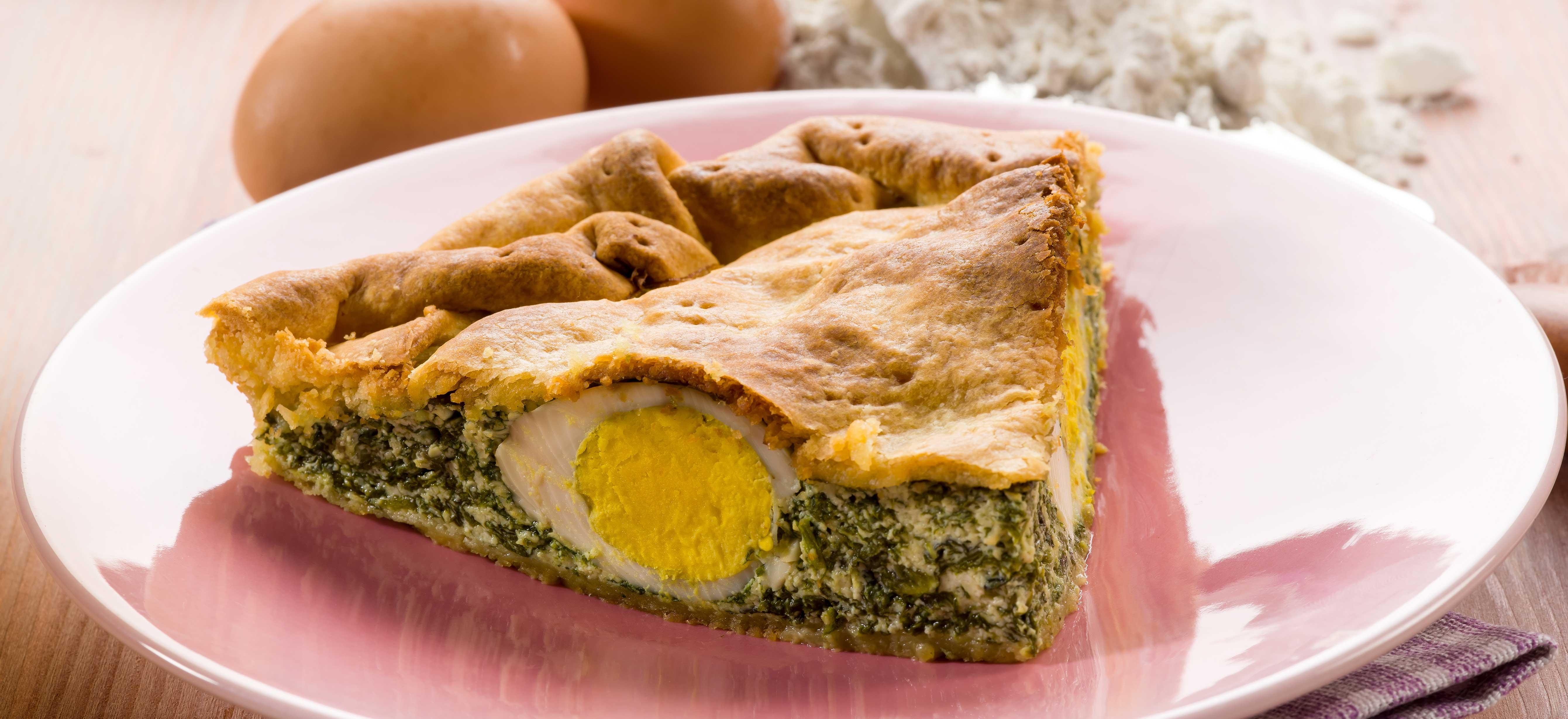Torta pasqualina (paasquiche met spinazie, artisjok en ricotta)