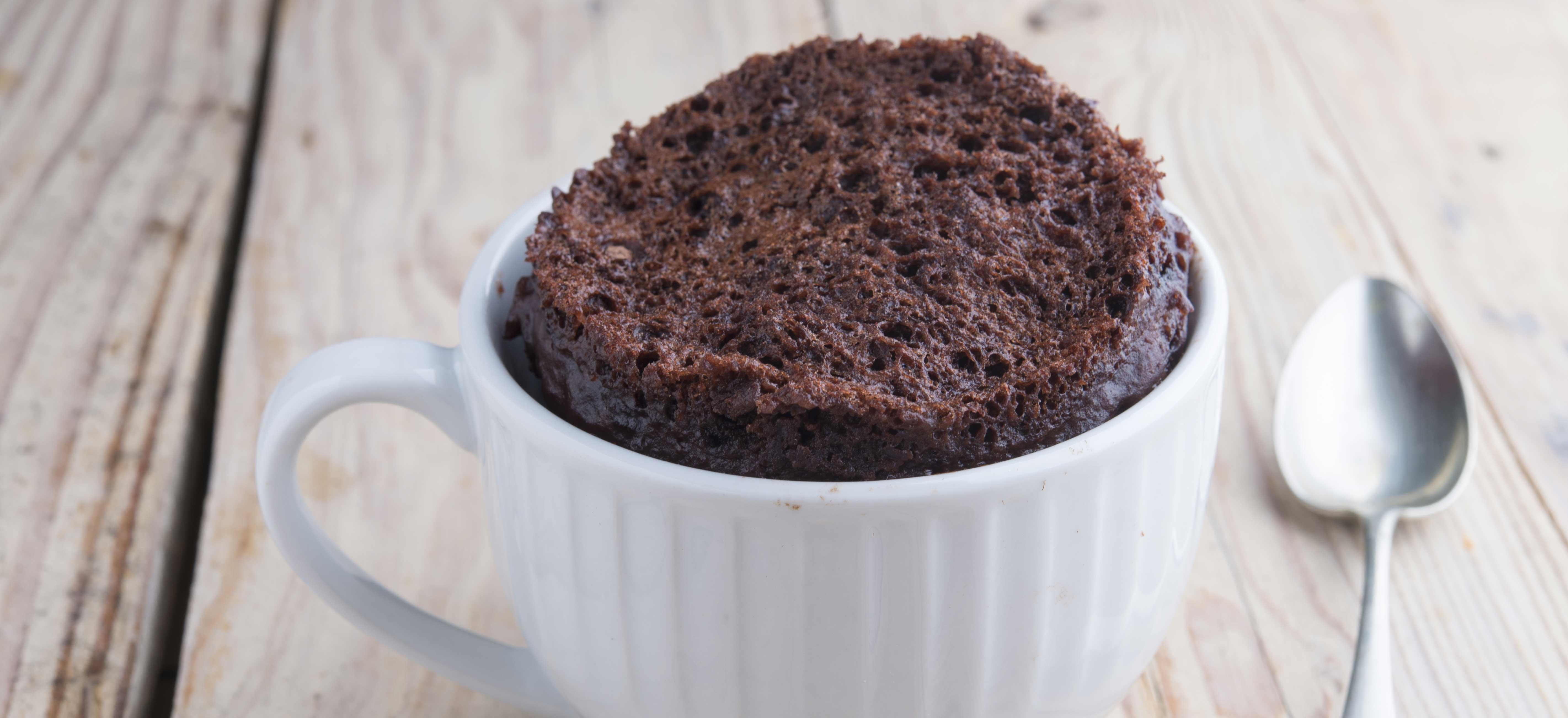 Nutella brownie in een mok (met slechts 3 ingrediënten)