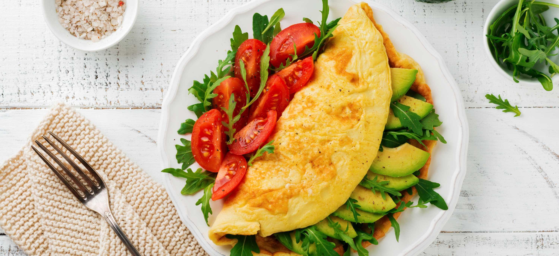 Naturel omelet met groenten
