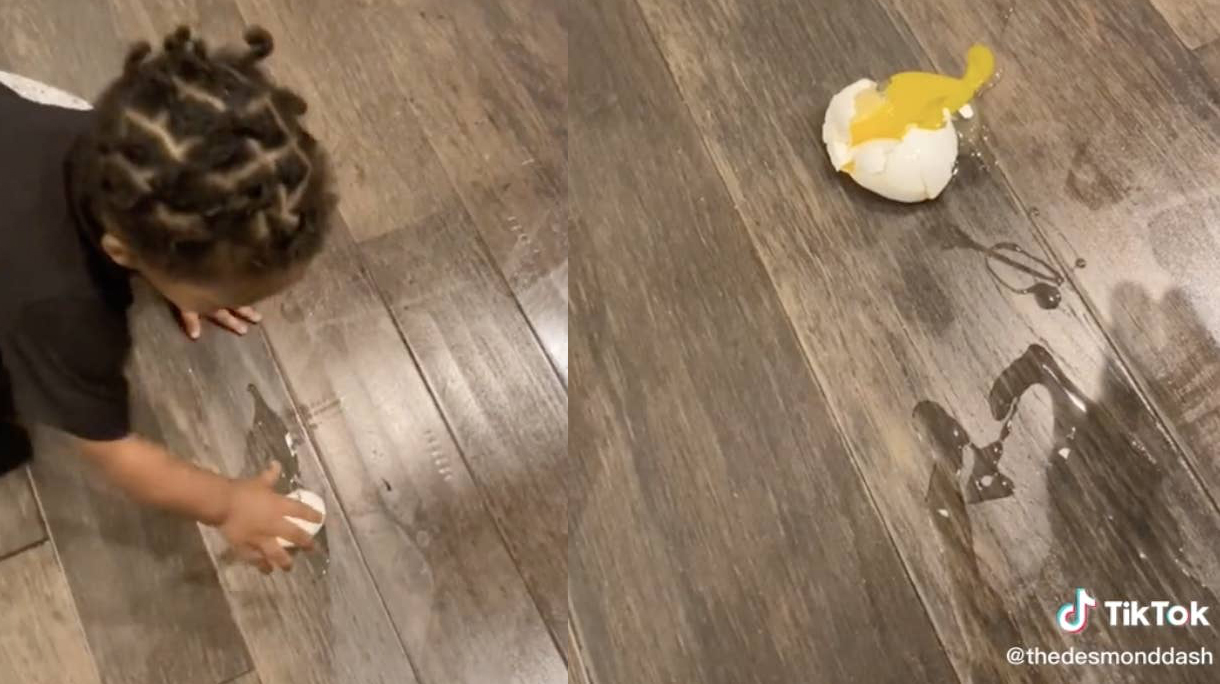 Tiktok trend: geef je peuter een rauw ei