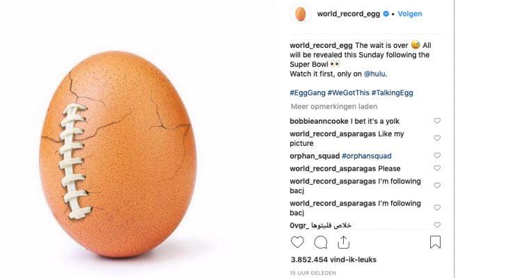 Wereldberoemde Instagram-ei 'breekt' onder psychische druk